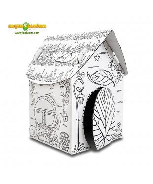 Домик гномика - 3D игрушка-раскраска из гофрокартона для детского творчества