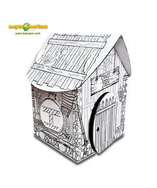 Домик пирата - 3D игрушка-раскраска из гофрокартона для детского творчества