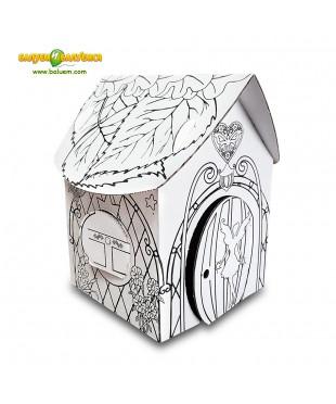 Домик феи - 3D игрушка-раскраска из гофрокартона для детского творчества