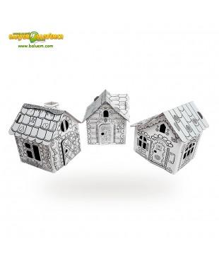 Тридевятое царство (Эконом) - 3D игрушка-раскраска из гофрокартона для детского творчества (игровой набор)
