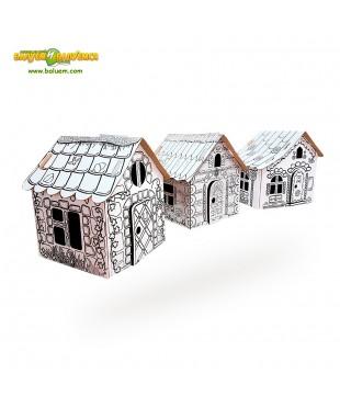 Тридевятое царство - 3D игрушка-раскраска из гофрокартона для детского творчества