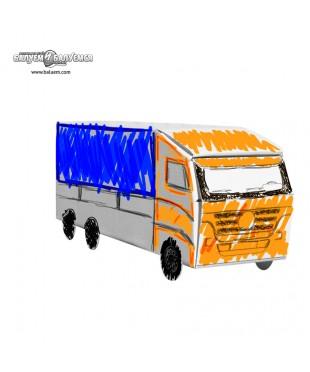 Шустрый фургон - 3D игрушка-раскраска из гофрокартона для детского творчества