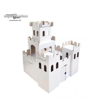 Рыцарский замок - 3D игрушка-раскраска из гофрокартона для детского творчества