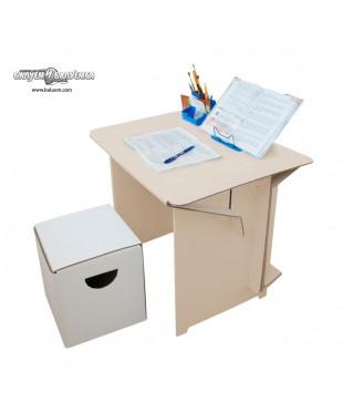 Парта. Комплект Стол + Табурет. Мебель из гофрокартона