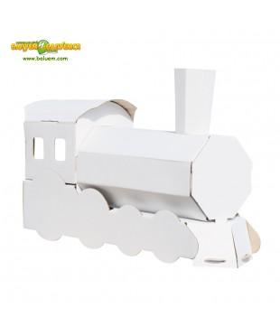 Паровоз - 3D игрушка-раскраска из гофрокартона для детского творчества