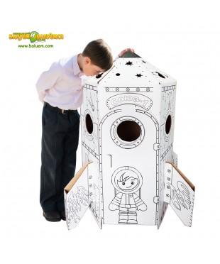Ракета (Эконом) - игровой набор из гофрокартона для детского творчества