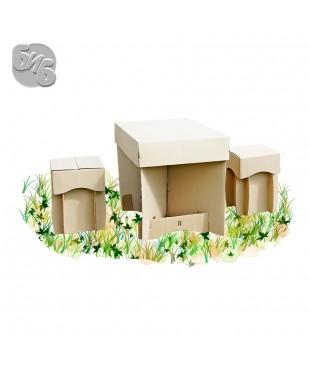 Пикник. Комплект одноразовый из гофрокартона (стол + 2 табурета)