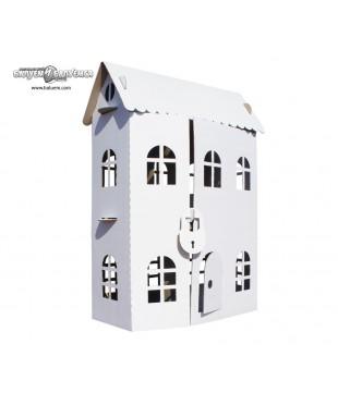 Домик принцессы - 3D игрушка-раскраска из гофрокартона для детского творчества