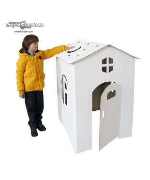 Коттедж - крупногабаритный игровой набор из гофрокартона для детского творчества