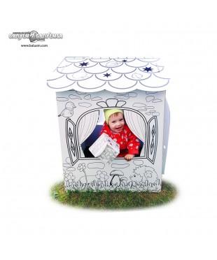 """Домик """"В гостях у лета"""" - 3D игрушка-раскраска из гофрокартона для детского творчества"""