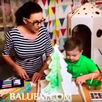 В гостях у Эвелины Блёданс и её сына